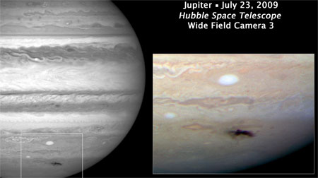 Object strikes Jupiter
