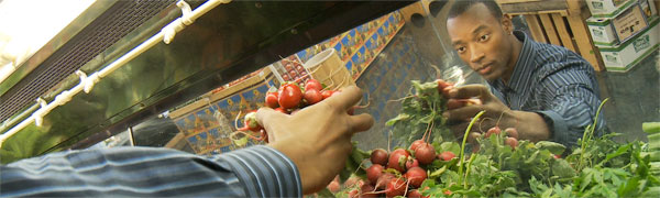 Kirt shops for raw foods