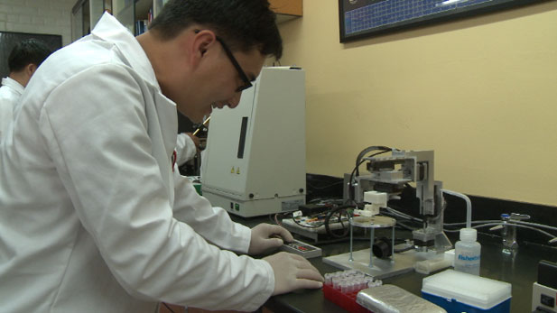 """In the past, detecting water and foodborne contaminants usually took several days, now a new technology called""""lab on a chip""""can identify pathogens in minutes."""