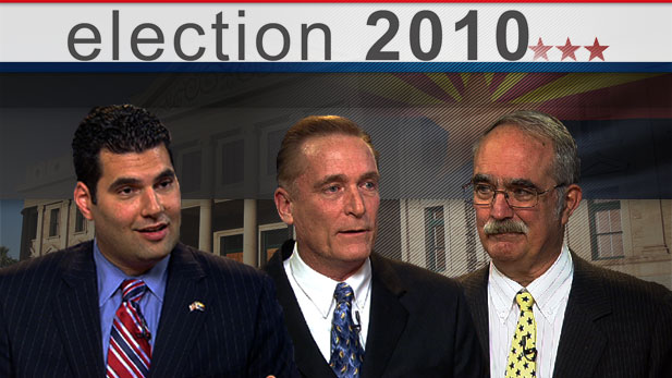 Democrat Rodney Glassman, Green Party Jerry Joslyn, and Libertarian David Nolan, three of the four candidates for US Senate in Arizona, square-off in a wide-ranging conversation with Bill Buckmaster.