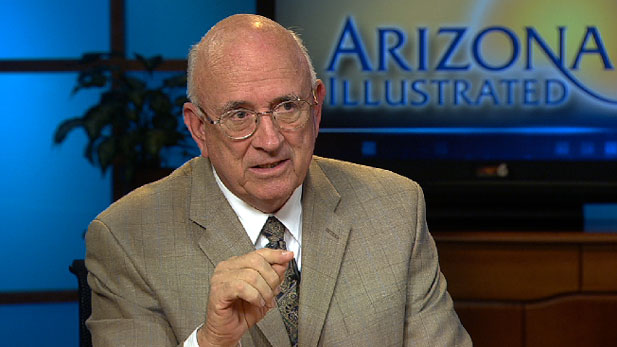 Tucson Mayor Bob Walkup discusses the timetable for a vote on the proposed downtown Tucson Convention Center hotel and the council's relationship to the Rio Nuevo Board.