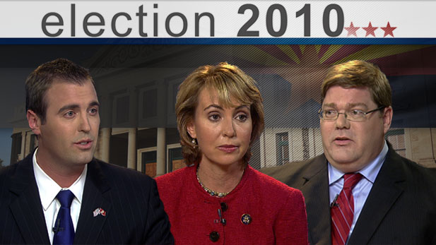 Bill Buckmaster and Christopher Conover interview candidates for District 8: Democrat Gabrielle Giffords, Republican Jesse Kelly, and Libertarian Steven Stoltz.