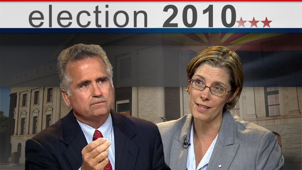 Republican John Huppenthal and Democrat Penny Kotterman battle it out in the race for Arizona Superintendent of Public Instruction.
