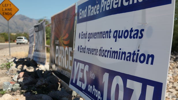 Political signs on Tucson street