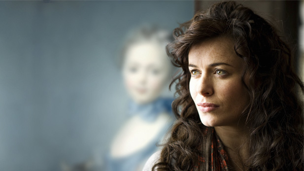 Eve Myles as local teacher Angharad Stannard