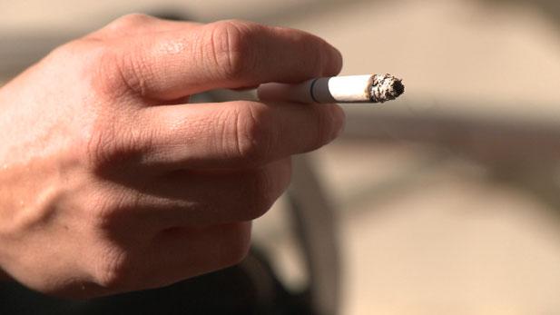 cigarette hand spot