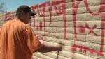 Graffiti abatement at work