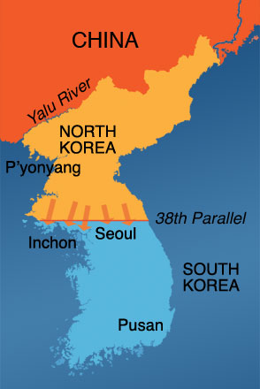 Korean War Map1