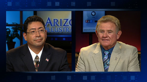 Arizona Mine Inspector candidates, Manuel Cruz (D) and Joe Hart (R).
