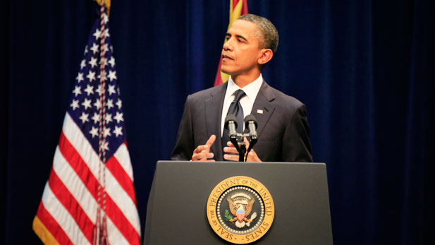 President Barack Obama helped begin the healing process with the people of Tucson, the nation, and the world to honor Congresswoman Gabrielle Giffords and the many others who were injured or lost in Saturday's tragic shooting.