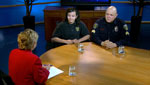 Kimberly Craft interviews Edward Cajas, Sargent for the South Tucson Police Department, and Clara Diaz, Captain of Explorer Post 317.