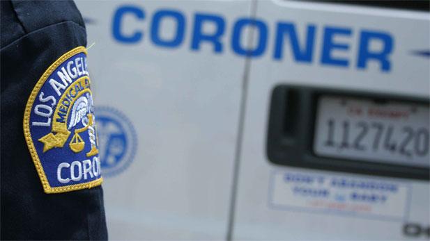 Los Angeles County coroner vehicle