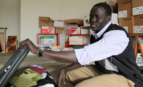 """Lost Boy"" Wol Akujang prepares for his return to South Sudan."