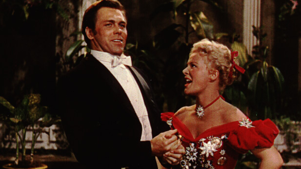 "Howard Keel and Betty Hutton in ""Annie Get Your Gun"""