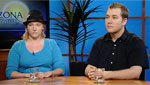 Occupy Tucson organizers Kacee Dwyer (left) and Craig Barber (right) discuss their roles in the movement to take to the streets of Tucson in protest.