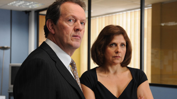 Kevin Whately as DI Lewis and Rebecca Front as Innocent