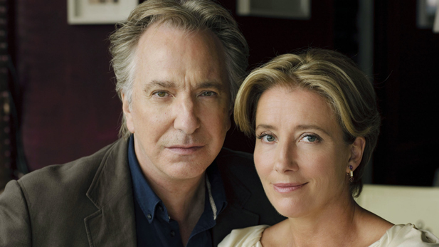 Alan Rickman and Emma Thompson as a book editor and his former lover.