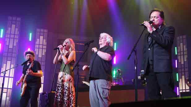 Pictured left to right are:  Paul Kantner, Cathy Richardson, David Freiberg and Marty Balin.