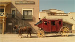 The stagecoach that runs at Old Tucson Studios recaptures some of the flavor of what travel was like on the frontier of the late 1800's.