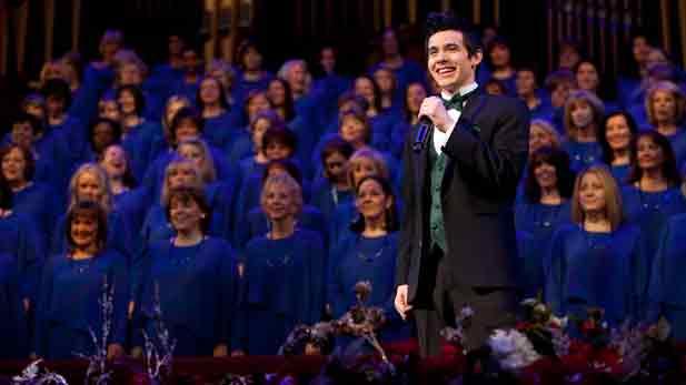David Archuleta and the Mormon Tabernacle Choir in Salt Lake City.