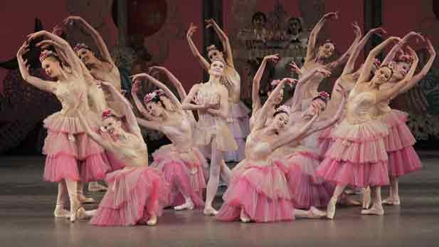 Scene from The Nutcracker with New York City Ballet company.
