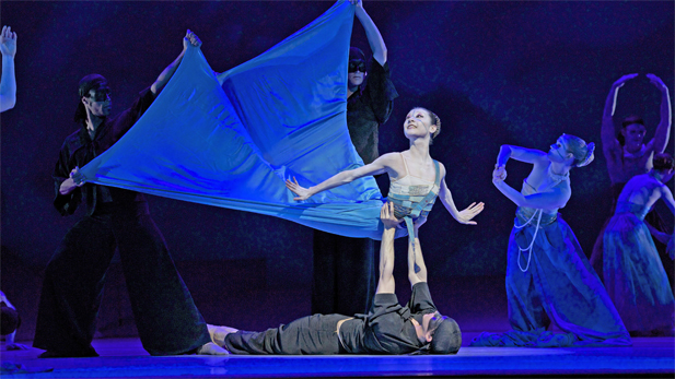 "Yuan Yuan Tan (The Mermaid) in ""The Little Mermaid from San Francisco Ballet."""