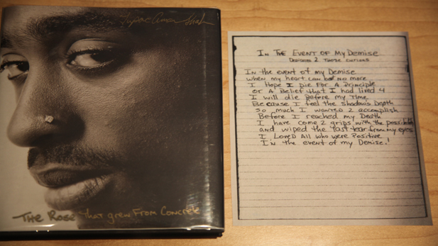 Rapper Tupac Shakur's posthumous collection of poems offers scans of the original manuscripts for comparison