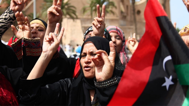 Libyan women played important roles in the rise against Gadhafi's regime.