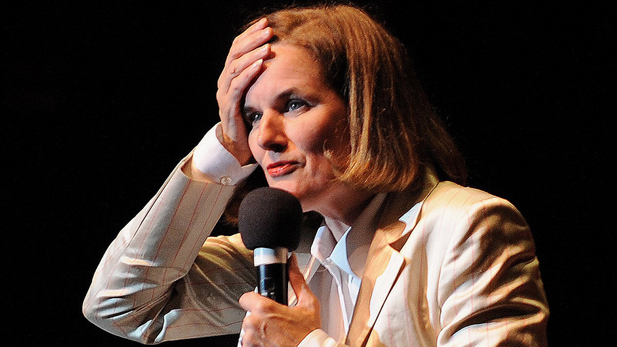 Paula Poundstone, performing in Westwood, California on July 11, 2008.