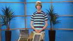 Ostin Zarse, a Student from THMS talks about his Solar Panel science project.