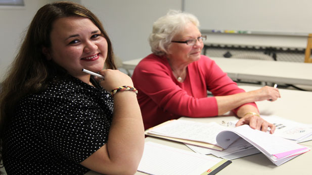 Olga Goss is one of many local students improving her English skills with help from the Literacy Volunteers of Tucson.