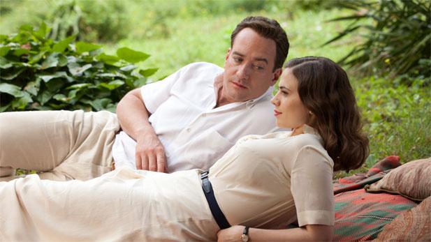 Matthew MacFadyen as Logan Mountstuart and Hayley Atwell as Freya Deverell