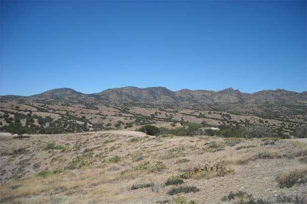 Site of the proposed Rosemont mine in the northern Santa Rita Mountains.