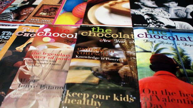 """The Chocolate Voice is simple and small--you can get through it,"" says publisher Gwen Pierce."
