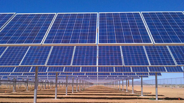 Solar panel array at Tucson Water's Central Avra Valley Storage and Recovery Project