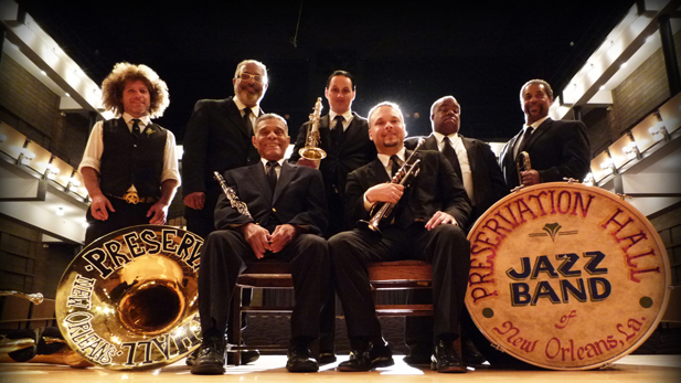 The proud ambassadors for a century of New Orleans music, The Preservation Hall Jazz Band.