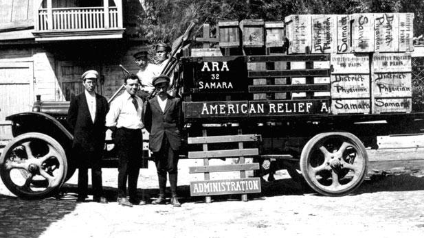American Relief Administration truck, Samara Region, Russia