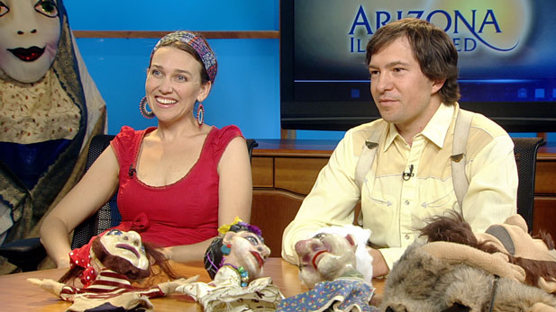 Matt and Sarah Cotten join the studio, along with their puppets, to discuss puppetry.