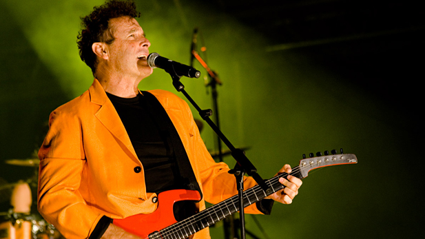 South African music legend Johnny Clegg doing what he loves best