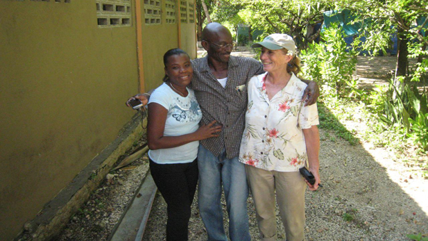 While Kate Tirion visited Haiti in May she met with a local engineer and his wife who are overseeing projects in the Gressier region. When the building is repaired, it will serve as a half-way house for women and girls who survived rape and other violence.