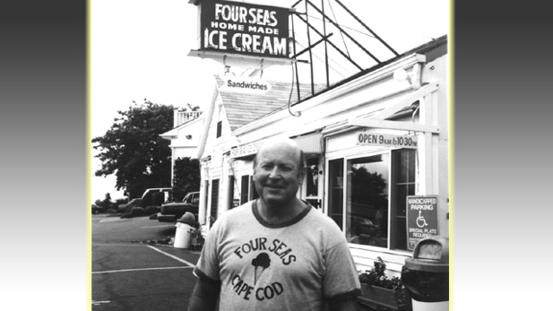 Dick Warren , owner of Four Seas Home Made Ice Cream in Centerville, Mass.