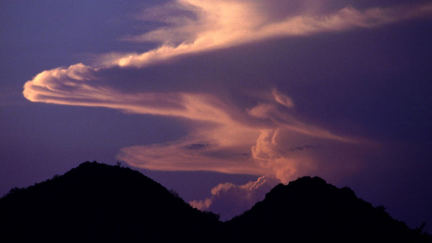 Monsoon clouds over Santa Catalina Mountains.