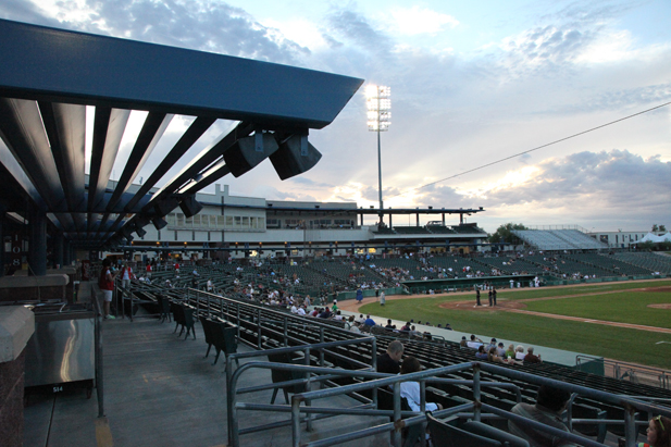 Kino Stadium in Tucson will feature three Major League Baseball Spring Training games this month.