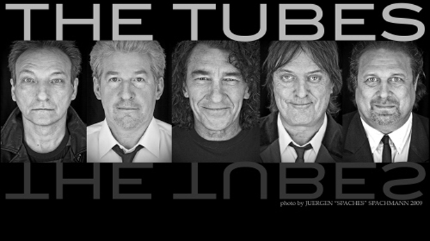 The Tubes in 2011: Rick Anderson (bass), Roger Steen (guitar), Fee Waybill (vocals), Prairie Prince (drums), and David Medd (keyboards)