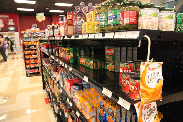 The farm bureau's Market Basket Survey includes basic foodstuffs, but not processed foods.