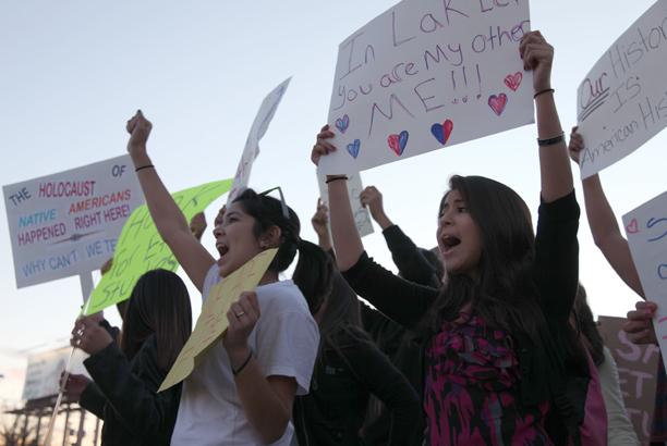 TUSD high school students protest in support of Mexican American Studies in 2012.