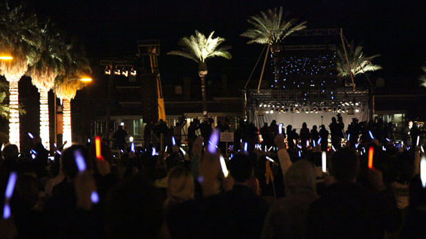 More than 2,000 supporters illuminated the University of Arizona mall during the Tucson vigil.