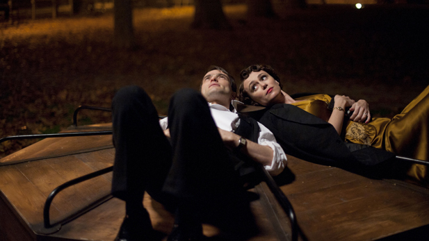 Shown from left to right: Ed Stoppard as Sir Hallam Holland and Keeley Hawes as Lady Agnes Holland