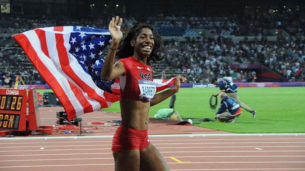 Track & field star Brigeta Barrett