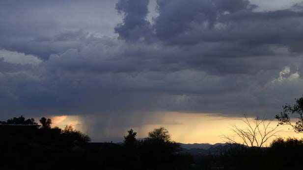 10/17/12. Rebecca Brukman.  Image of landscape, featuring cloud cover, after monsoon.
